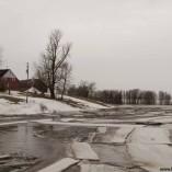 Embâcle qui se forme sur la rivière Lacadie